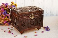 Carved jewelry-box