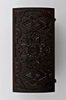Wooden rectangular jewelry box.