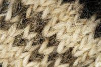 Warm woolen knee socks knitted by hand