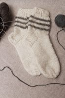 Woolen socks for men and women knitted by hand.