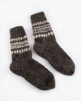 Woolen socks for men knitted by hand