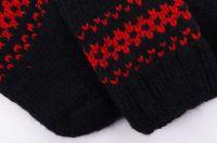 Warm hand knitted woolen socks for women