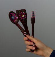 Decorative wooden fork