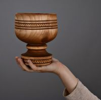 Goblet bowl for candies and cookies