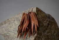 """Earrings made from genuine leather """"Africa"""""""