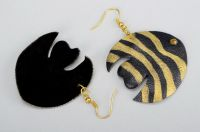 """Leather earrings """"Small fishes"""""""