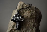 """Leather pendant """"Jelly-fish"""""""