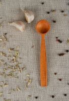 Small wooden spoon for salt