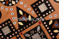 Inlaid wooden plate