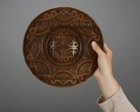 Decorative wooden plate