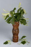 Decorative table wooden vase