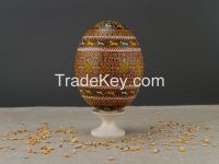 Ostrich Easter Egg with hand painting