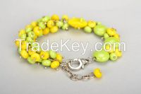 Yellow and green bracelet
