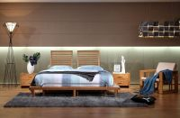 Eco-Friendly Modern double Carbonized Bamboo Bed