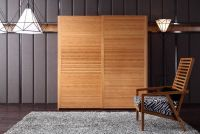Perfect  moveable two door bamboo wardrobe