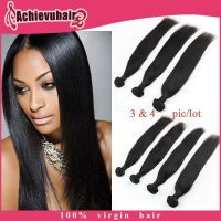 100% human hair Brazilian/Peruvian/Indian remy virgin hair 6A grade straight hair