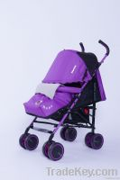 baby stroller with footcover and cotton cushion