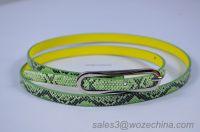 2015 Customized PU Belt Lady Snake Pattern PU Belt