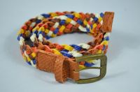 New design colorful braided PU Belt For Lady,Casual Belt