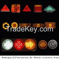 ECE SAE LED truck parts stop light tail lamp turn signal side marker