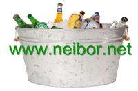 large metal ice bucket  party tub  party cooler galvanized bucket
