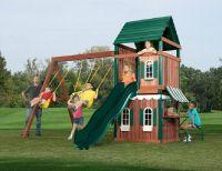 high quality school / Kindergarten wooden outdoor playground equipment