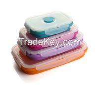 Hot selling silicone lunch box with LFGB/FDA certificate