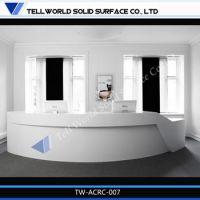 2014 Tw Acrylic Reception Counter White Reception Desk