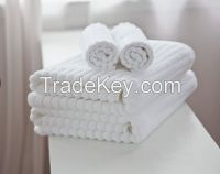 Customized Terry White Hotel Towel 5 star hotel Cotton Shower Towel