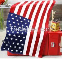 100% Cotton Flag Print Beach Towel