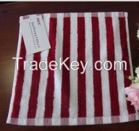 Yarn dyed stripe small face towel