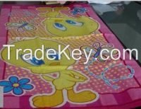 100% cotton printed beach towels
