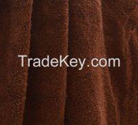 Plain brown cotton towel