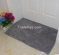 100% cotton custom jacquard bath mat