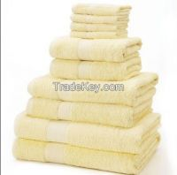 100%Cotton Stain Border Towel Set For Hotel