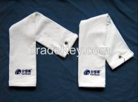 100% cotton customized logo embroidered golf towel