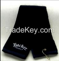 100% cotton golf towels with super touch feeling