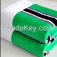 new fashion Colored strip cotton towel for beach