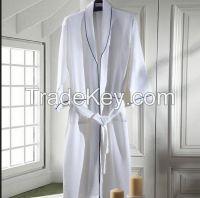 unisex 100% cotton waffle bathrobe for hotel and home use