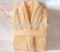 100%cotton terry embroidery adult bathrobe