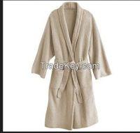 100%cotton adult bathrobe
