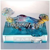 Crystal Colored Glaze Craft Feng shui Jade Ruyi for Car Decoration