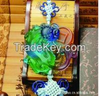 Fengshui Crystal Car Ornament--Chinese Dragon-Pixiu