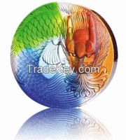 Colorful Liuli Brick Art Craft Crystal Decorations