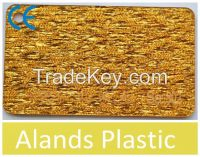 Golden Color Fabric Acrylic Sheets