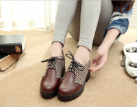 2369 UK fashion lace-up women casual shoes
