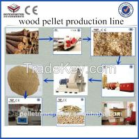 complete wood pellet line for 1-1.5tons per hour capacity in China