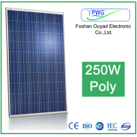 High Efficiency 250W Poly Solar PV module for Home Solar System