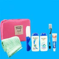Fashion small South Korea nylon fabric portable cosmetic bag/toiletries bag /storage box