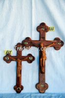 olive wood crosses and crucifx
